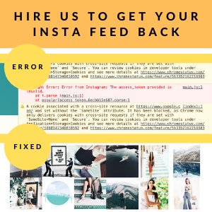 instagram invalid token error fixed